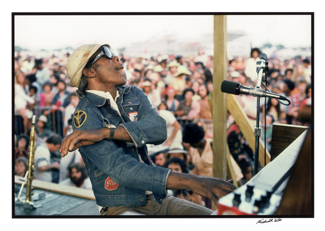 """Henry Roeland Byrd 'Professor Longhair' at the New Orleans Jazz and Heritage Festival"" by Michael P. Smith © The Historic New Orleans Collection."