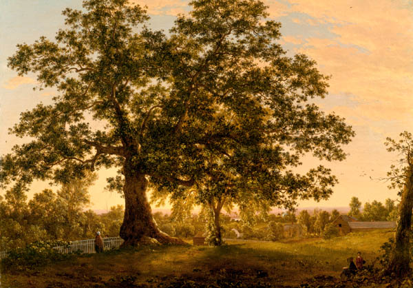 The Charter Oak at Hartford by Frederic E. Church - Florence Griswold Museum